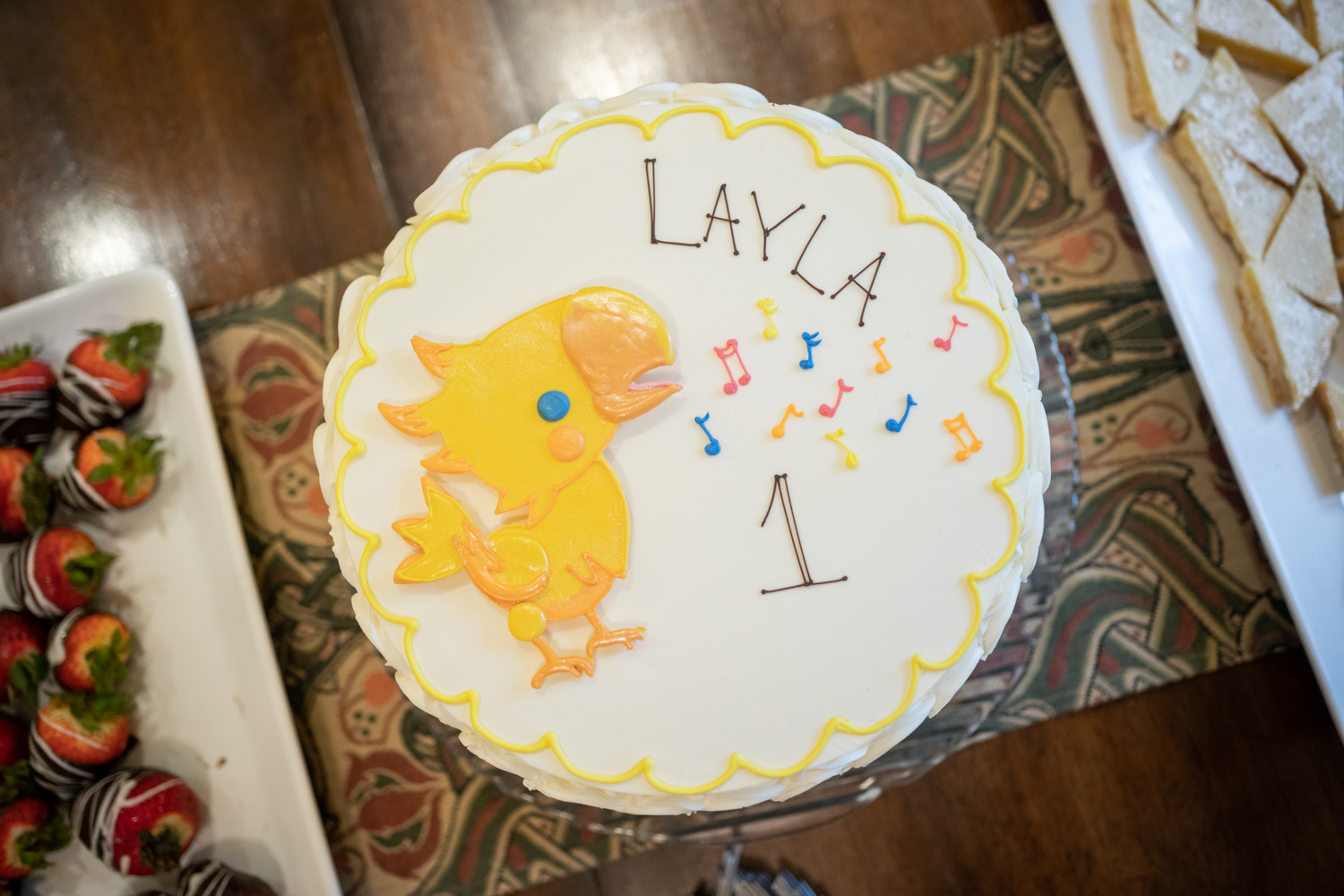 Layla's American first birthday cake.